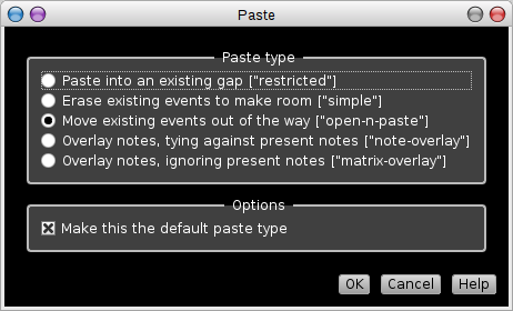 Rosegarden's paste-type dialog